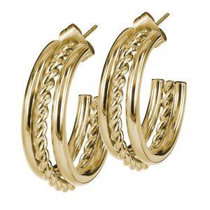 TWIST Örhänge Guld från Astrid & Agnes