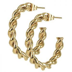 TWIST Single Örhänge Guld från Astrid & Agnes