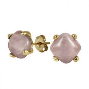 VICTORIA Örhänge Guld/rosa från Astrid & Agnes