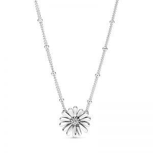Pavé Daisy Flower Halsband från PANDORA