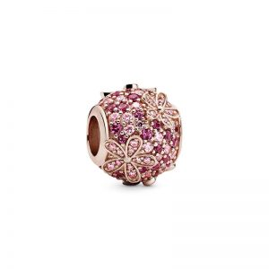 Pink Pavé Daisy Flower Berlock från PANDORA