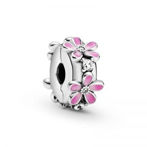 Pink Daisy Flower Clip Berlock från PANDORA