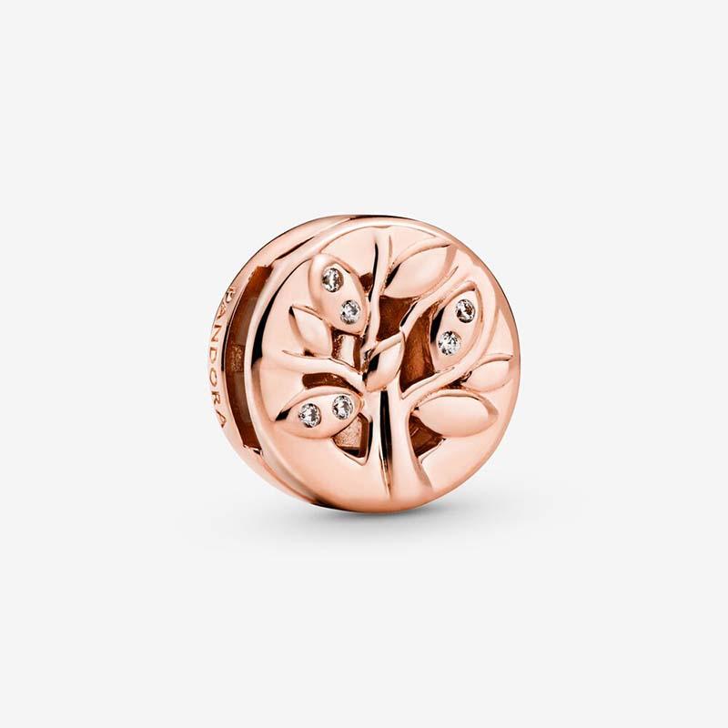 Pandora PANDORA Reflexions Glittrande Familjeträd Clip Berlock Rosé