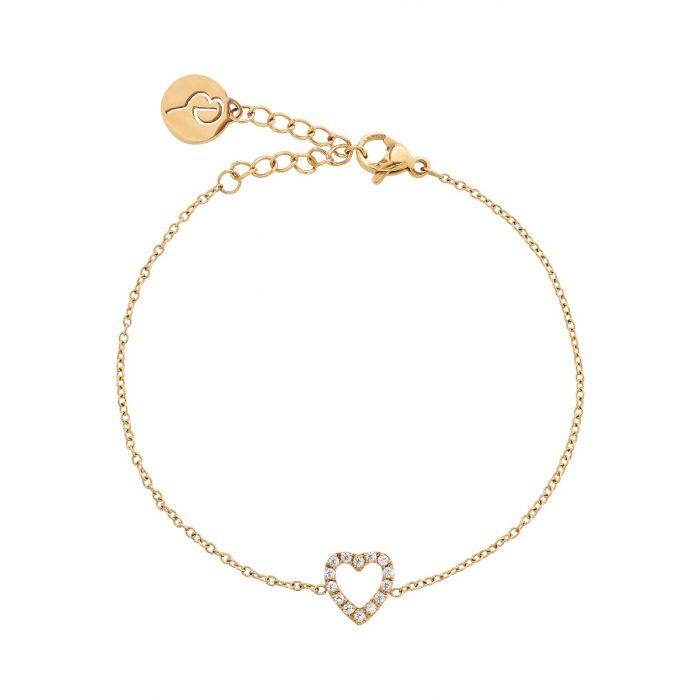 Edblad Glow Heart Bracelet Gold