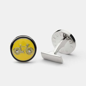 Cuff Links Themocracy Silver Yellow från Skultuna