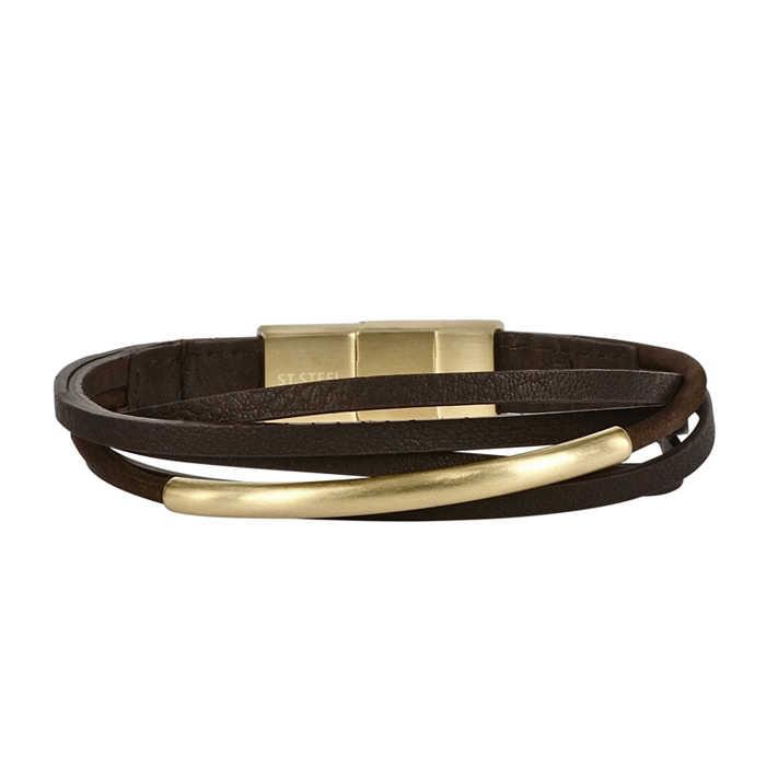 AROCK ANDY Bracelet Brown/Gold