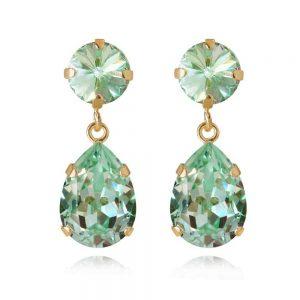 Classic Drop Earring Gold Chrysolite från Caroline Svedbom Smycken