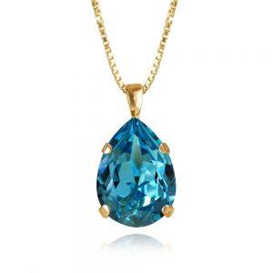 Classic Drop Necklace Gold Light Turquoise från Caroline Svedbom Smycken