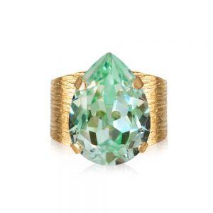 Classic Drop Ring Gold Chrysolite från Caroline Svedbom Smycken