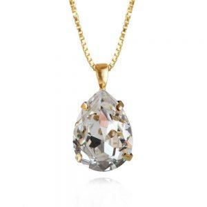 Classic Drop Necklace Gold Crystal från Caroline Svedbom Smycken