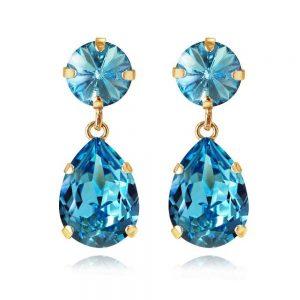 Classic Drop Earring Gold Light Turquoise från Caroline Svedbom Smycken