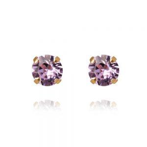 Classic Stud Earring Gold Violet från Caroline Svedbom Smycken