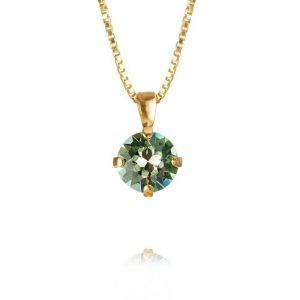 Classic Petite Necklace Gold Chrysolite från Caroline Svedbom Smycken