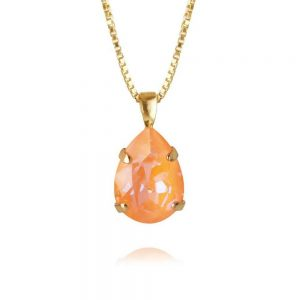 Mini Drop Necklace Gold Peac Delite från Caroline Svedbom Smycken