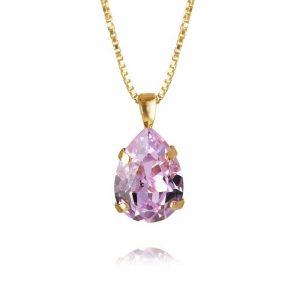 Mini Drop Necklace Gold Violet från Caroline Svedbom Smycken