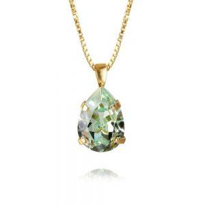 Mini Drop Necklace Gold Chrysolite från Caroline Svedbom Smycken