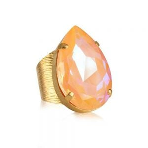 Perfect Drop Ring Gold Peach Delite från Caroline Svedbom Smycken