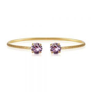 Classic Petite Bracelet Gold Violet  från Caroline Svedbom Smycken