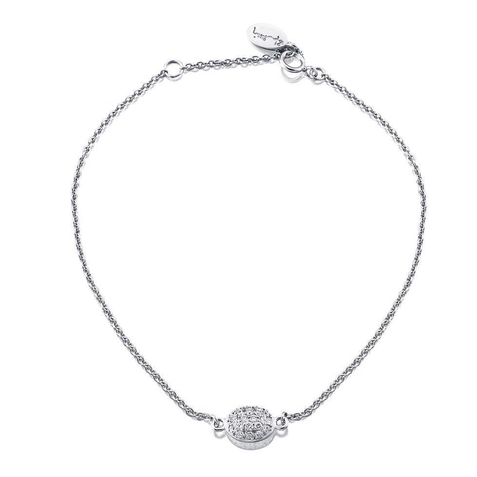 Efva Attling Love Bead Bracelet Diamonds White Gold