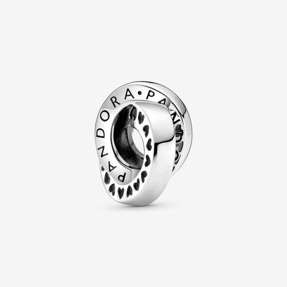 Pandora Band med Logo & Hjärtan Mellanled