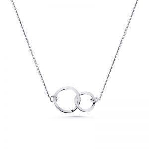 Halsband Cirklar Silver från Jewelrybox.se