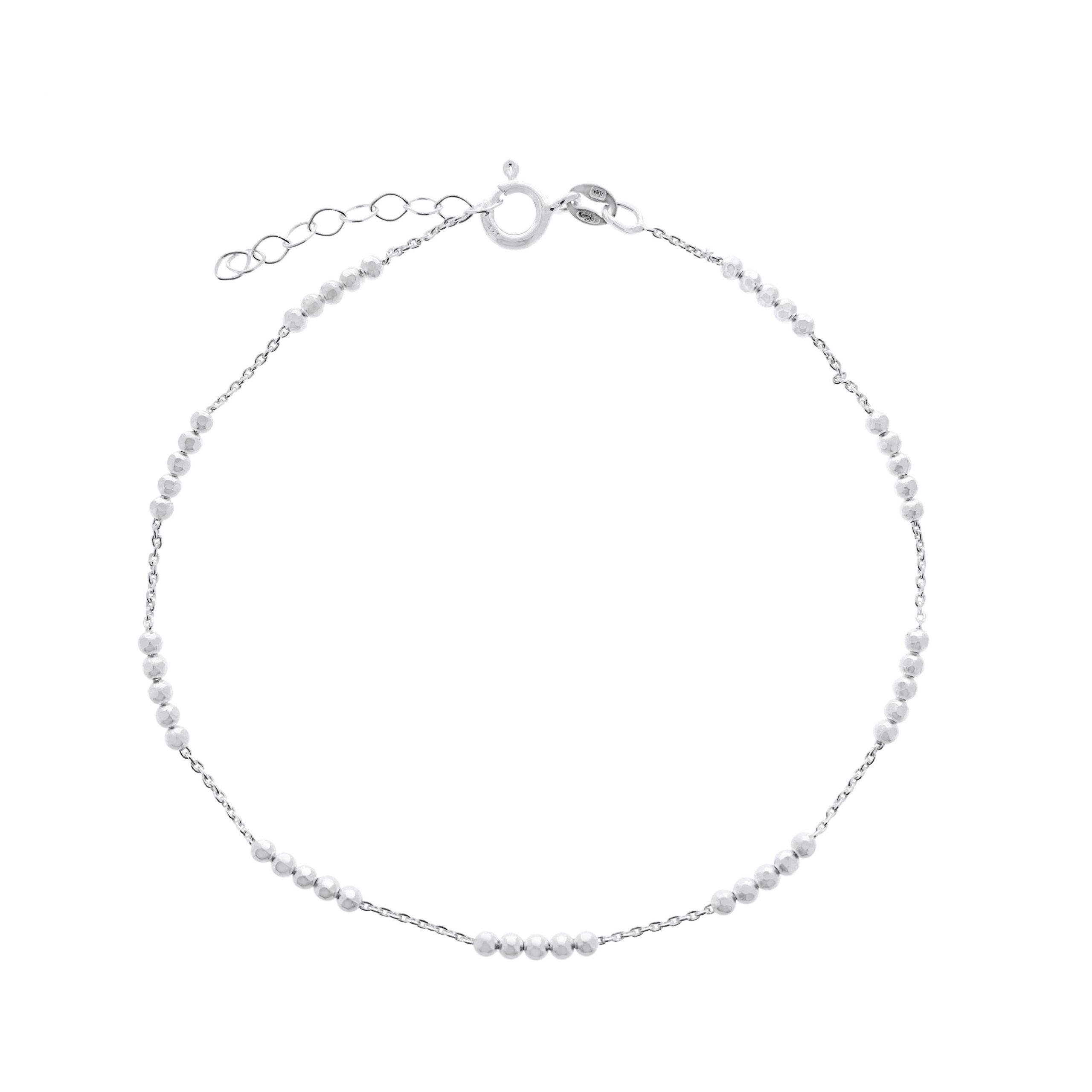 Jewelrybox.se Vristlänk Kedja med Kulor Silver
