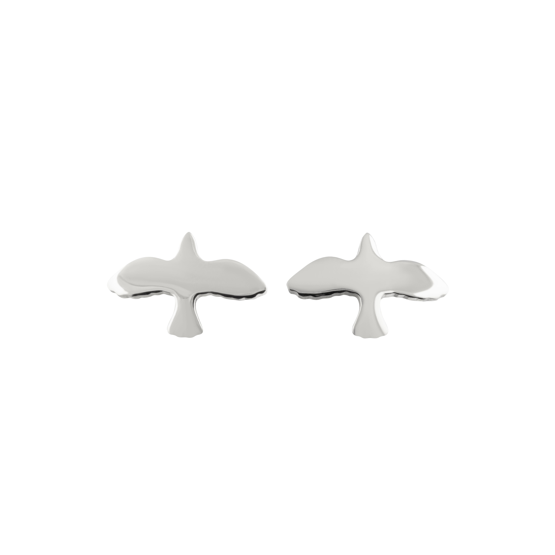 : - Silver Dove Pin Earrings