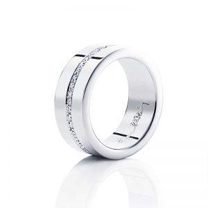 Wide & Stars Ring Silver från Efva Attling