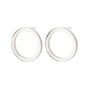 Cricle Earrings Small Steel från Edblad