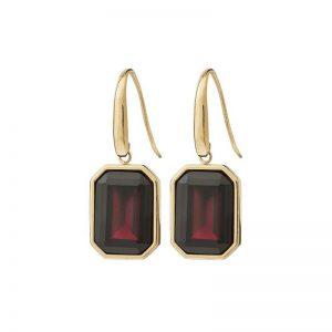 Grand Earrings Plum Gold från Edblad