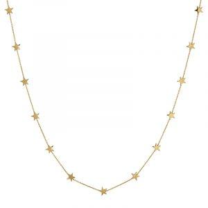 Sirius Necklace Multi Short Gold från Edblad