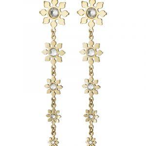Snowflake Earrings Gold från Edblad