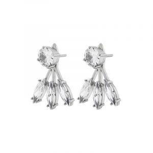 Timeless Earrings Front/Back Steel från Edblad