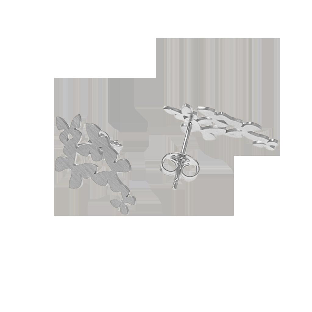 CU Jewellery Butterfly Flock Ear Silver