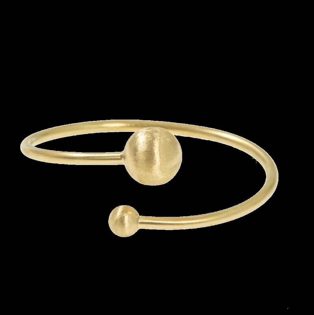 CU Jewellery Feather Bangle Brace Flex Gold
