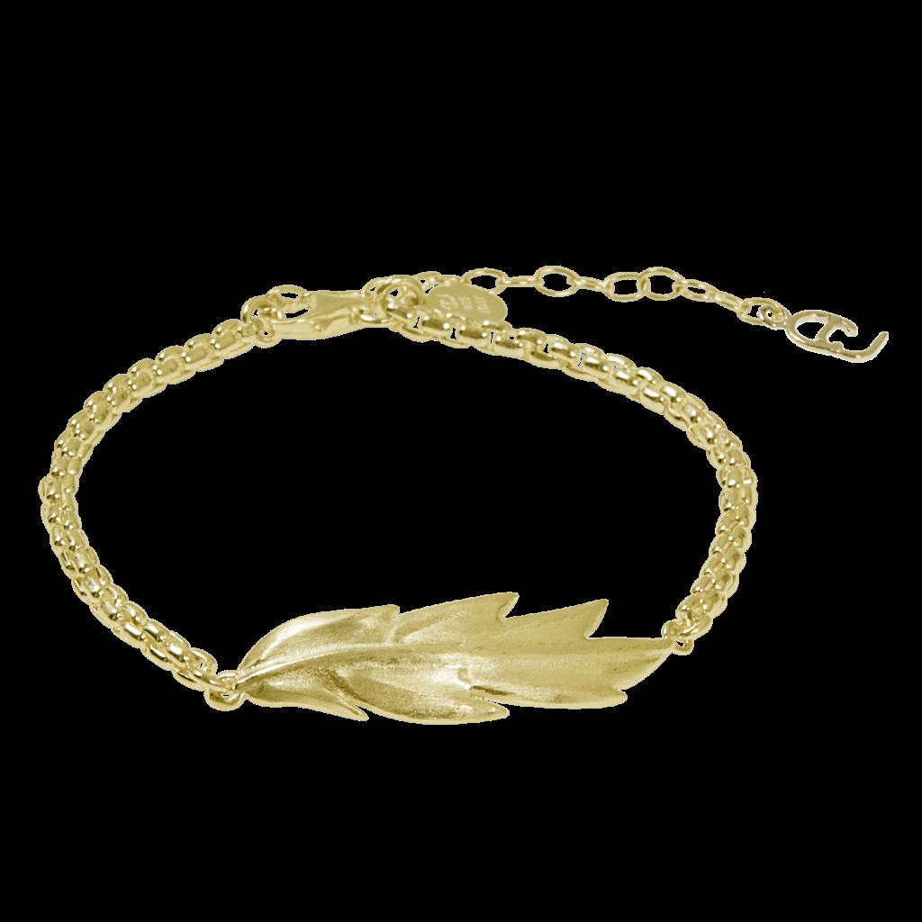 CU Jewellery Feather/Leaf Chain Brace Gold