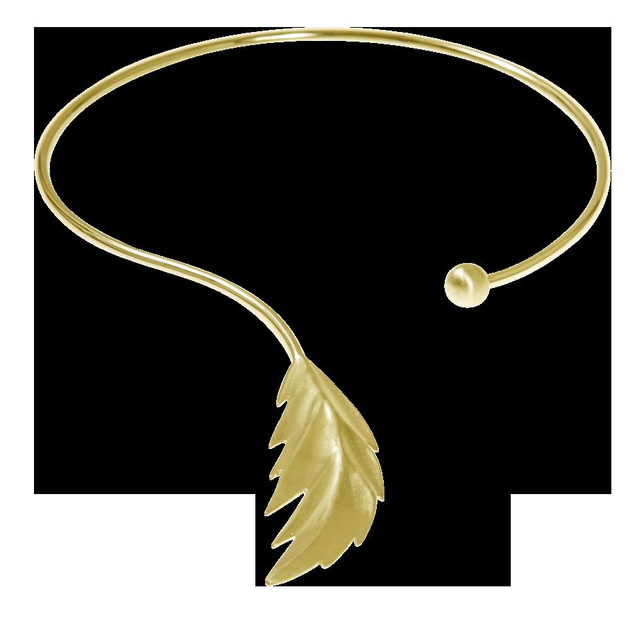 CU Jewellery Feather Bangle Neck Flex Gold