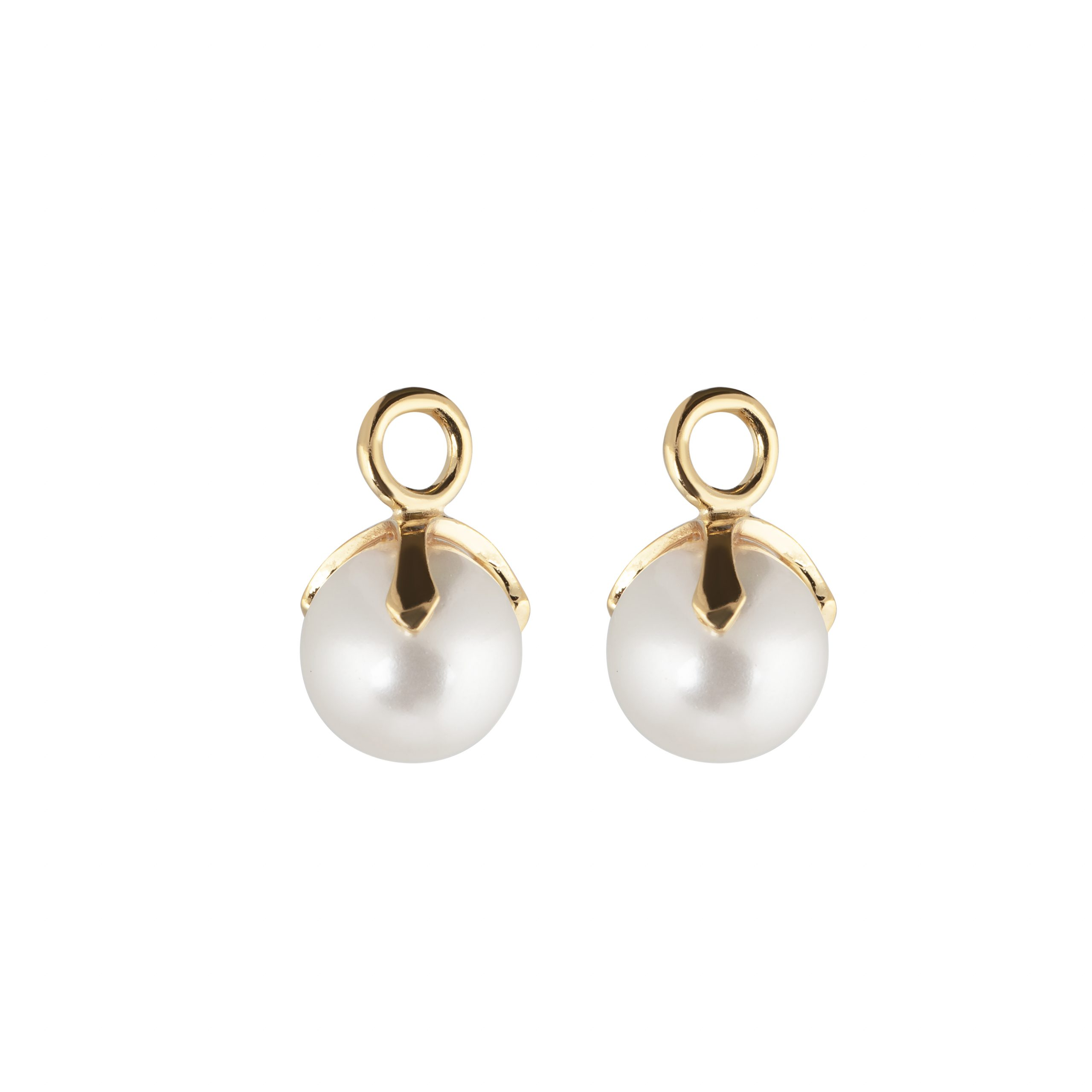 CU Jewellery Letters Pearl Pendant Gold