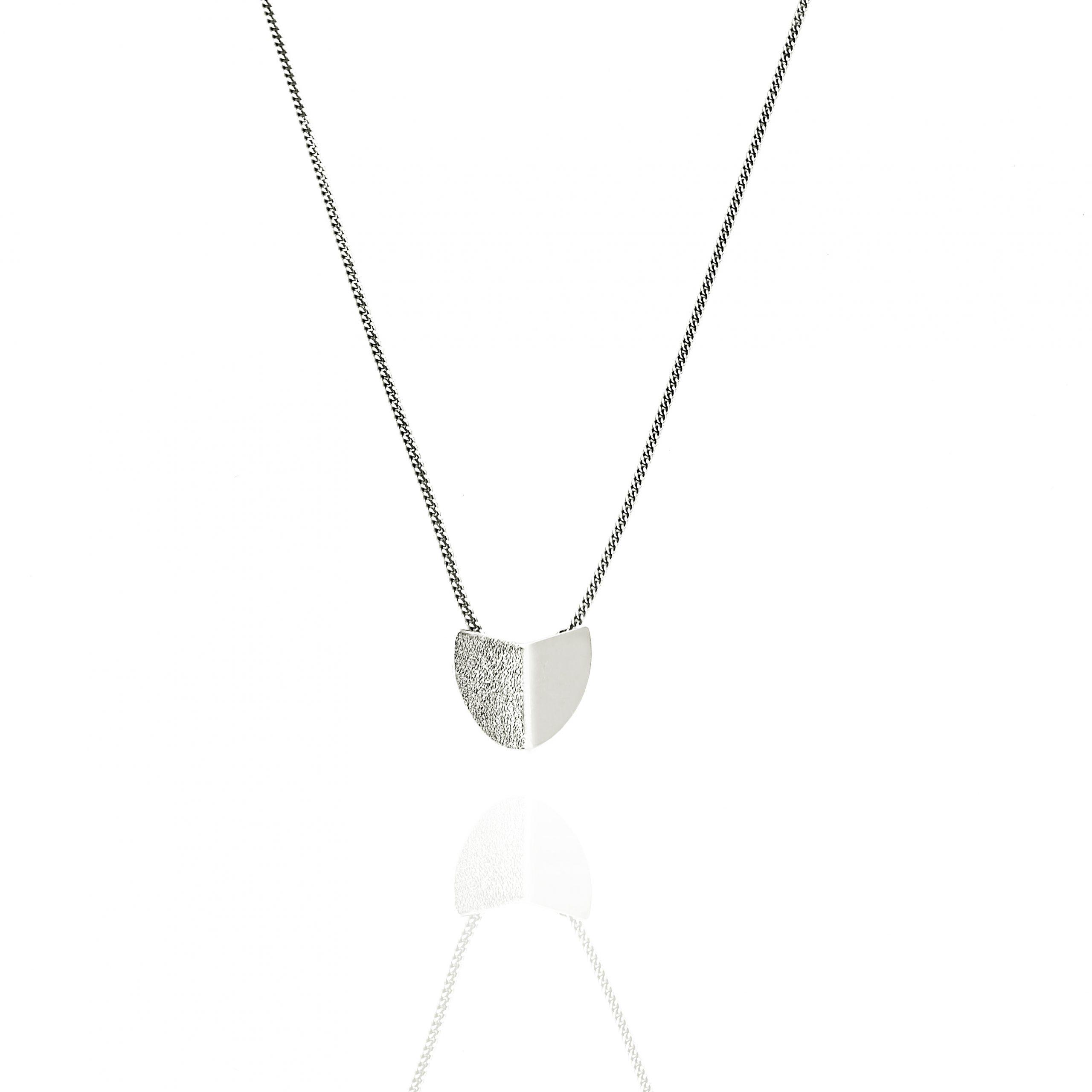 CU Jewellery Roof Small Pendant Neck  Silver