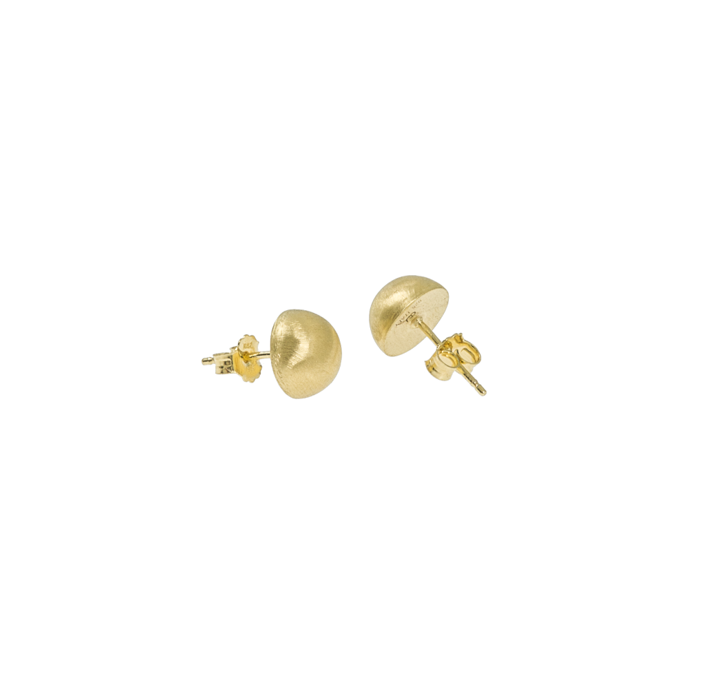 CU Jewellery Feather Small Round Ear Gold