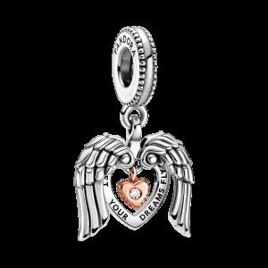 Pandora Club 2021 Angel Wings & Heart Hängberlock från PANDORA