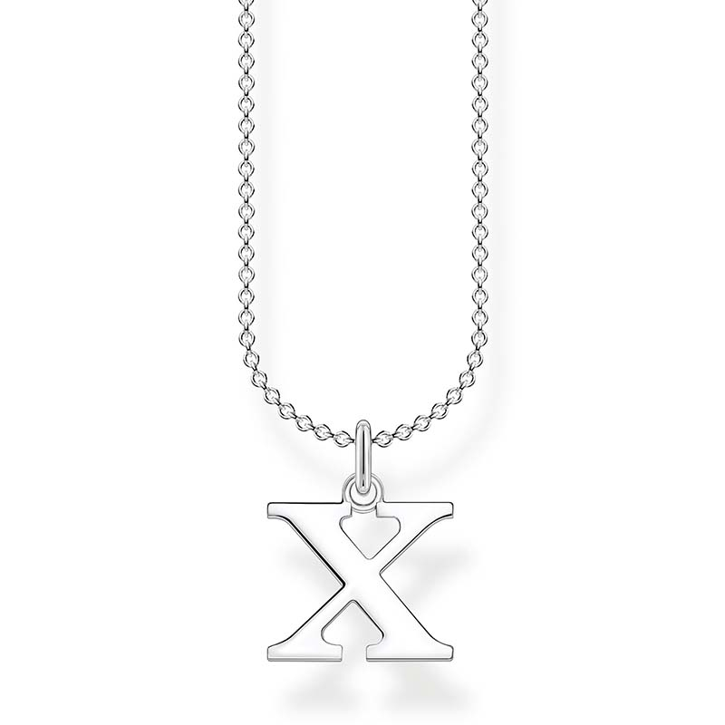 Thomas Sabo Bokstavshalsband Silver - X
