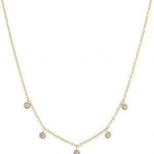 Dew Drop Necklace Multi Gold från Edblad