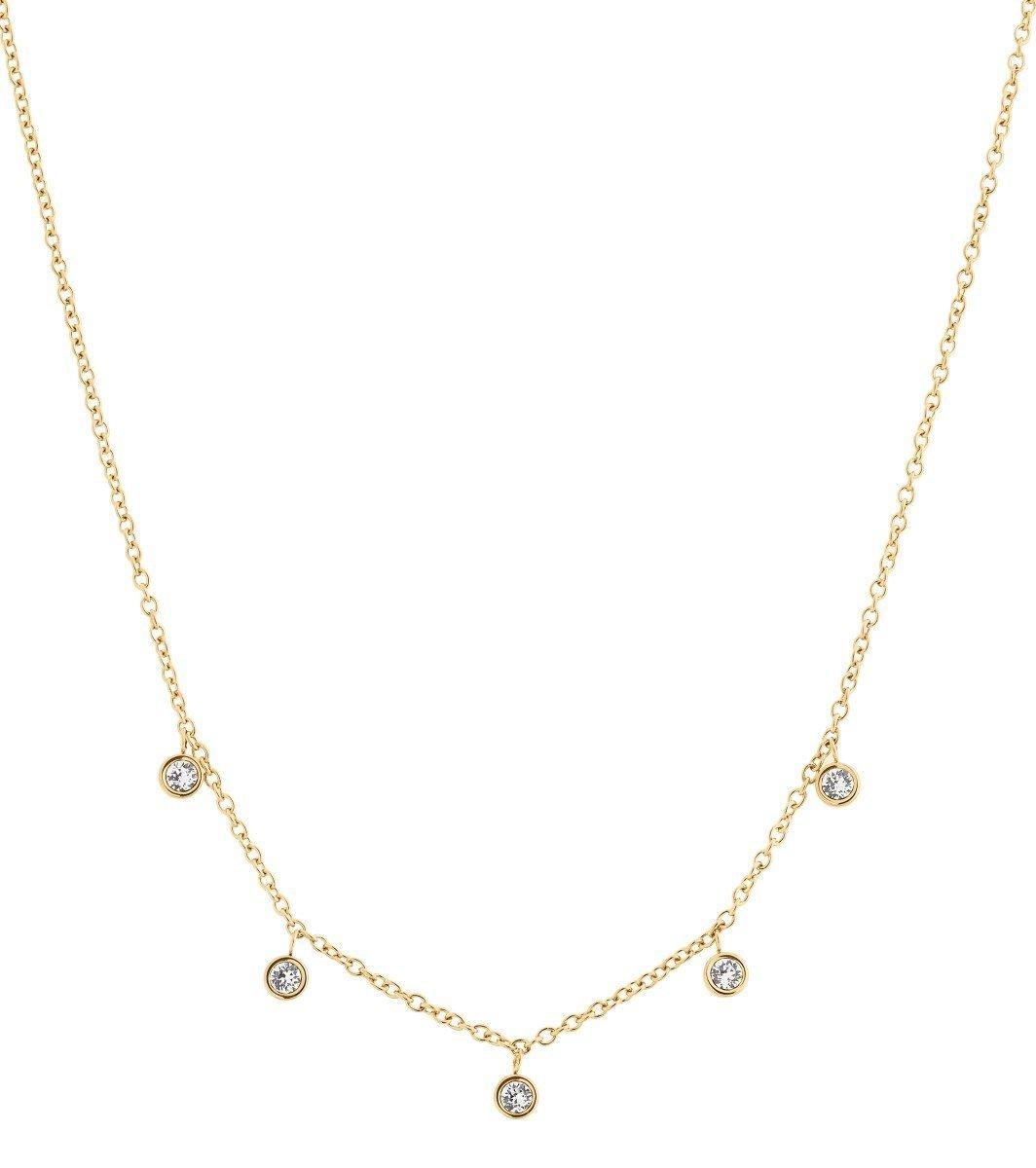 Edblad Dew Drop Necklace Multi Gold