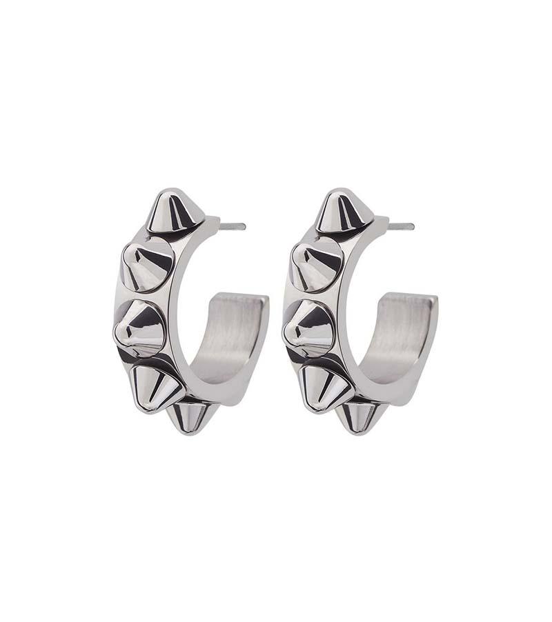 Edblad Peak Creole Earrings Small Steel