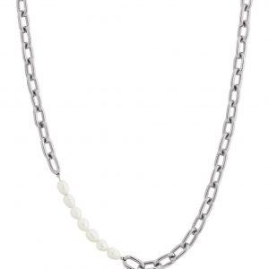 Trellis Pearl Necklace Steel från Edblad