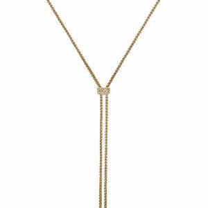 CLARISSA Långt Halsband Guld från Astrid & Agnes