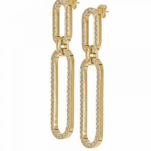 EXCELLENT Långa Örhängen Guld från Astrid & Agnes