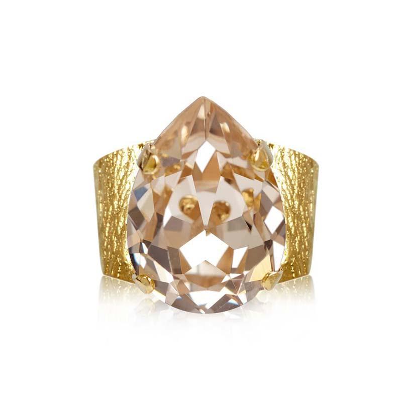 Caroline Svedbom Classic Drop Ring Gold Silk
