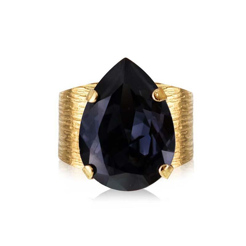Caroline Svedbom Classic Drop Ring Gold Graphite